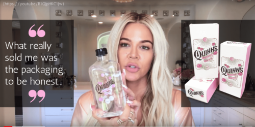 BIP News 1 - Khloe Kardashian - skincare packaging